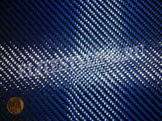 Карбон-Кевлар (Синий) Твилл 2х2